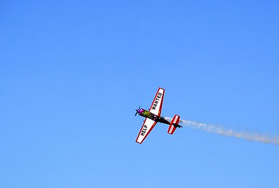 Frank Versteegh (Dutch) with his American Extra 300L plane.