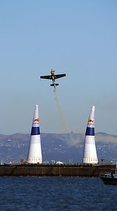 Red Bull Air race is an aerobatic slalom race against the clock.