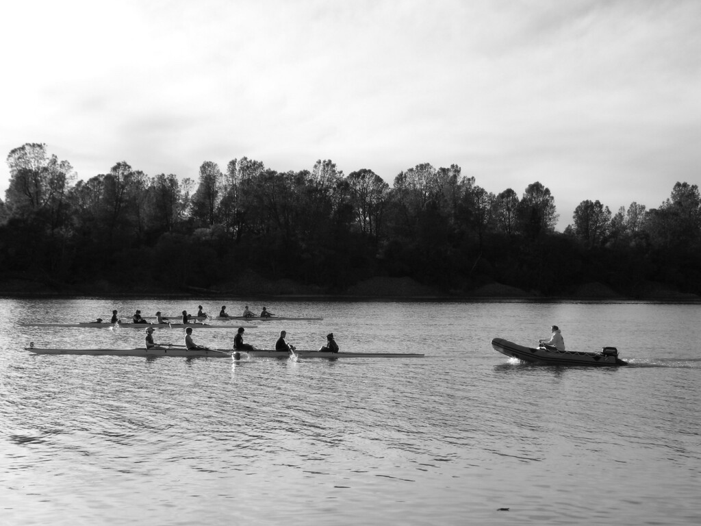 """""""Crew Team""""<br /> Lake Natoma, Folsom, CA.  <br /> Image Copyright 2006 by DJB.  All Rights Reserved."""