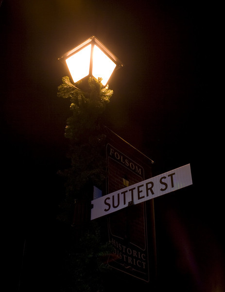 Sutter Street, Folsom, CA.  Image Copyright 2011 by DJB.  All Rights Reserved.