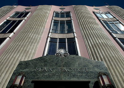 Max Factor Art Deco turn-of-the-century building Vine near Hollywood Blvd.  Hollywood, California