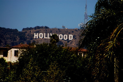 Hollywood sign on the Hollywood Hills,   Hollywood, California