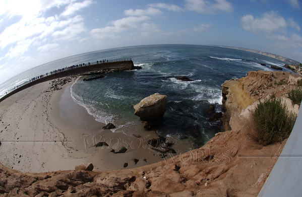 Fish-eye view of La Jolla's Casa Beach