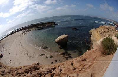 Fish-eye view of La Jolla's Casa Beach
