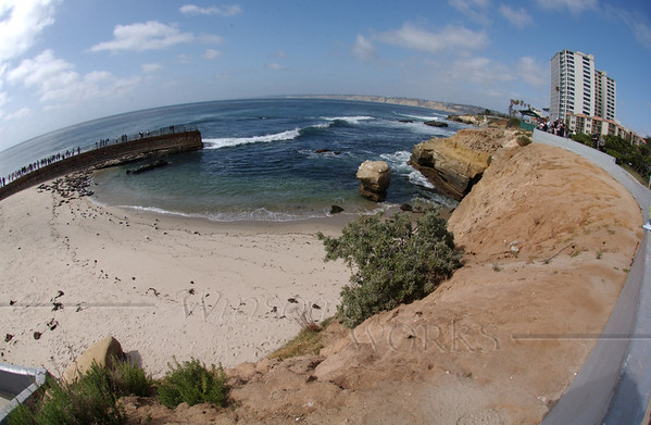 My brother Ivan let me play with his fish-eye lens! This captured the whole cove (Casa Beach)-- fun!