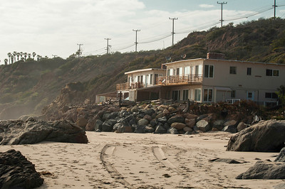 While not exactly the most luxurious houses in Malibu, this housing for the Lifeguards is right on the beach and no chance of anybody building a place to block your view, not too bad. One of the perks of being a Lifeguard.
