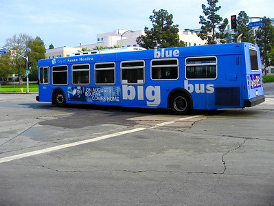 The big blue bus -   Transportation was wonderful going from Westwood Village to the beach and back again.