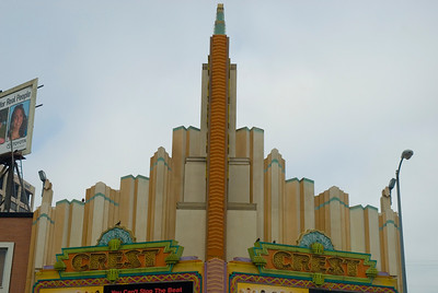 Crest Theatre on Westwood Blvd.  Turn-of-the-century architecture  Westwood Village, California