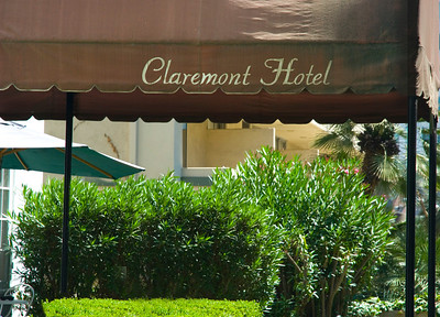 Claremont Hotel entrance on Tiverton, walking distance to UCLA  Westwood Village, California