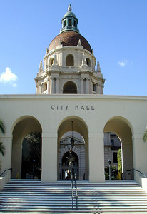 Pasadena City Hall  Beautiful Spanish style turn-of-the-Century Building  Pasadena, California