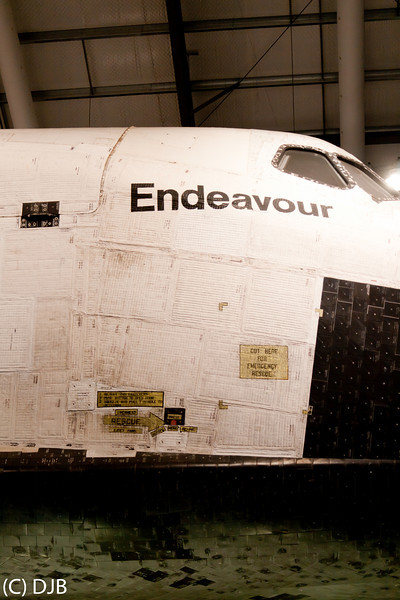 "Space Shuttle Endeavour at the California Science Center, Los Angeles, CA.  Image Copyright 2012-2013 by DJB.  All Rights Reserved.   <a href=""http://www.DaveXMasterworks.com"">http://www.DaveXMasterworks.com</a>"