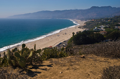 On the eastern side (looking to Santa Barbara)  of the point is Little Dume, known as a great surf spot, Windward Beach, and Zuma  Quite a few times, I'd happen upon location-filming going on - movies, TV, commercials, weddings - near Point Dume.  Point Dume, Malibu, California