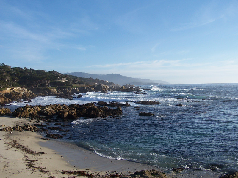 Beautiful California coastline along 17-Mile Drive