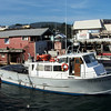 A view of one of the boats used for Whale Watch cruises at Fisherman's Wharf, Monterey.
