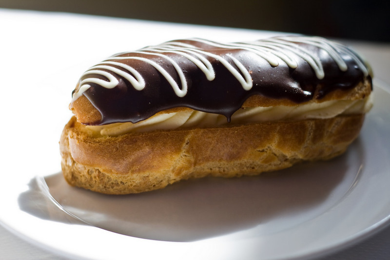 Chocolate Eclair at Patisserie Boisserie, Carmel, CA. Image Copyright 2010 by DJB.  All Rights Reserved.
