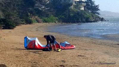 Wind Surfer Preparing