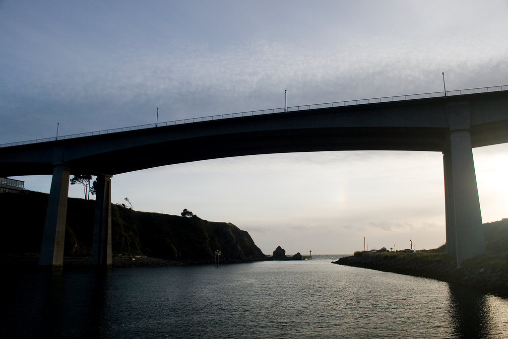 Noyo River Bridge, Fort Bragg, CA. Image Copyright 2010 by DJB.  All RIghts Reserved.