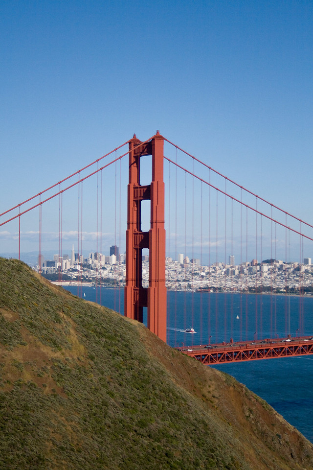 Golden Gate Bridge. Image Copyright 2010 by DJB.  All RIghts Reserved.