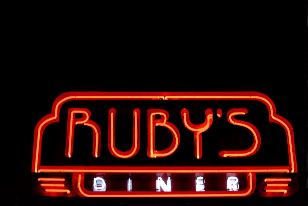 Ruby's Diner & Streamliner Lounge, Santa Fe Depot, Old Town Orange, CA on December 27, 2011.  Image Copyright 2011-12 by DJB.  All Rights Reserved.