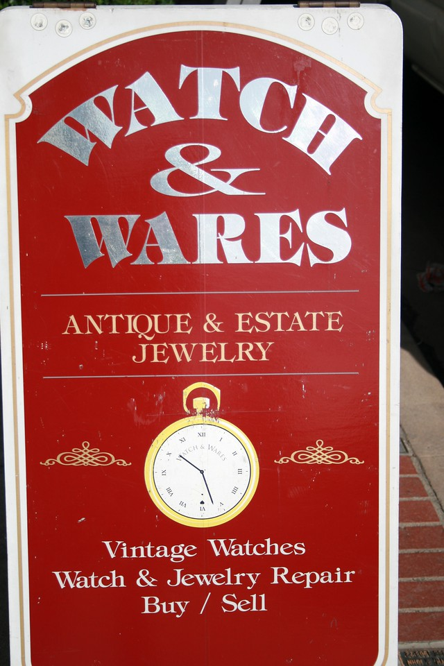 "Watch & Wares Estate Jewelry, Orange, CA.   <a href=""http://www.watchandwares.com"">http://www.watchandwares.com</a>. Image Copyright 2009 by DJB.  All Rights Reserved."