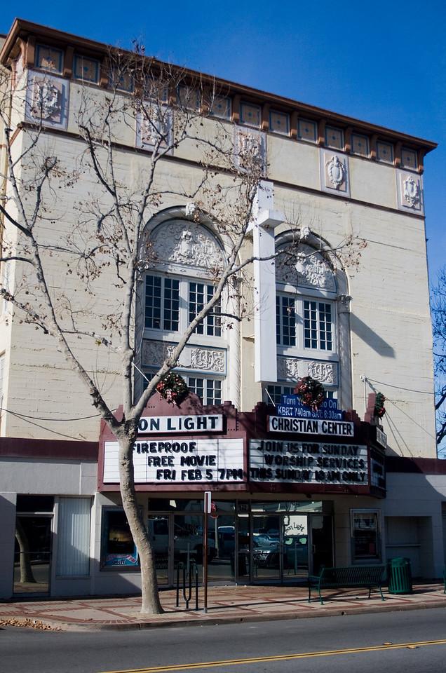 """Orange Theater, now Son Light Christian Center, Orange, CA.   <a href=""""http://www.sonlightoforange.org"""">http://www.sonlightoforange.org</a>. Image Copyright 2009 by DJB.  All Rights Reserved."""