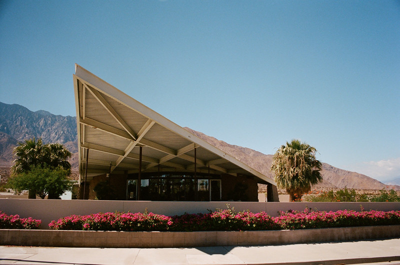 Palm Springs Visitor Center, Palm Springs, CA.  Designed by Albert Frey.  Palm Springs, CA.