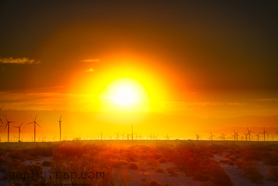 Wind Power During Sunrise