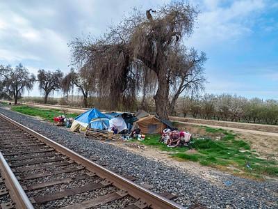 Encampments along the rails