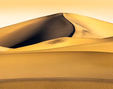 The amazing textures and patterns of Dunes change with the light.