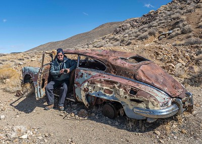 Abandoned car at Aguereberry Mine...and the new potential buyer.