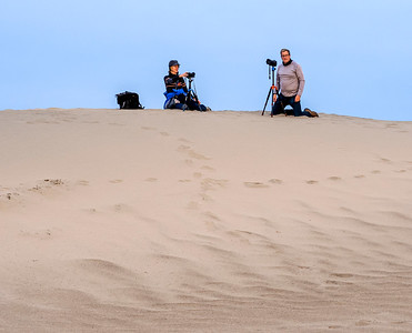 Getting set up on the dunes was, at times, challenging.
