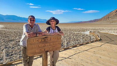 Badwater Basin, the lowest point in North America.