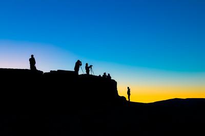 Zabriske Point at sunrise