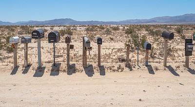Not even desert heat can keep the postman away