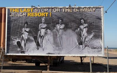 Bombay Bech on the Salton Sea: 1950 welcoming billboard