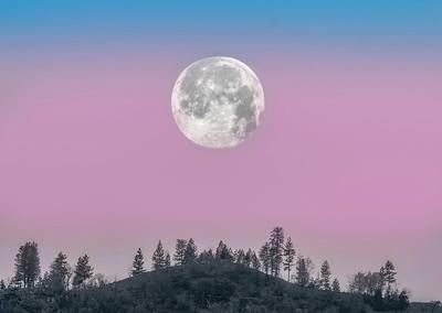 Moon set through Earth's shadow