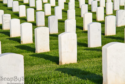 Rows of Tombstone in a National Cemetery
