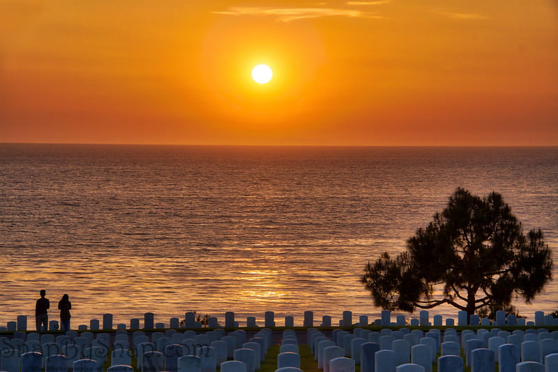 Sunset at a National Cemetery