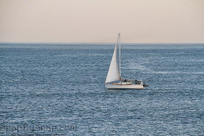 Sailboat on the Open Ocean