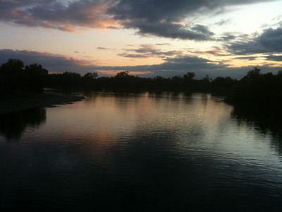 Sacramento River at Sunset Copyright 2011 Neil Stahl
