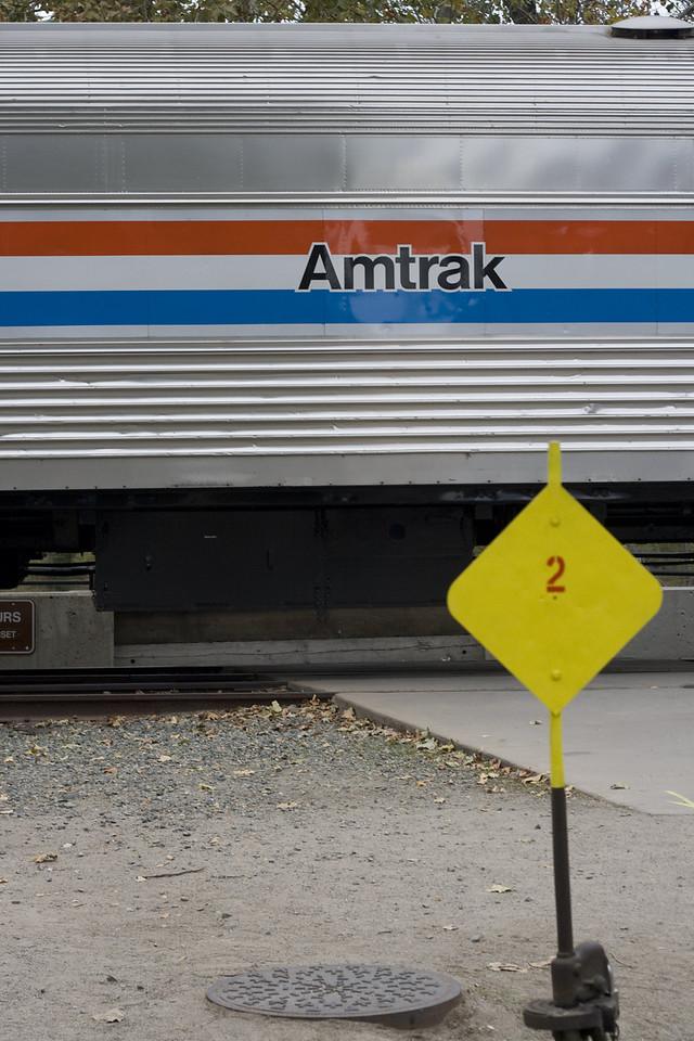 Amtrak 40th Anniversary Train, Sacramento, CA, November 5, 2011. Image Copyright 2011 by DJB.  All Rights Reserved.