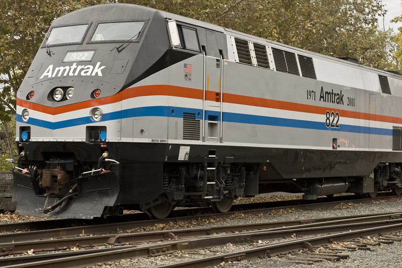 Amtrak 40th Anniversary Train, Sacramento, CA, November 5, 2011. Image Copyright 2011 by DJB.  All Rights Reserved.