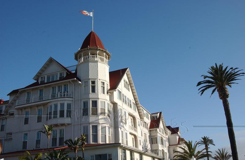 View from back of Hotel Del Coronado, San Diego