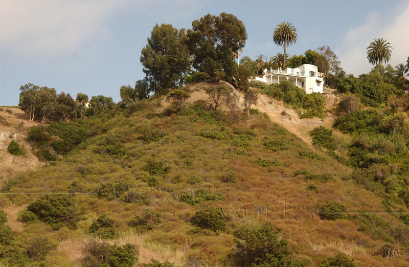 Home high on a cliff overlooking our hotel