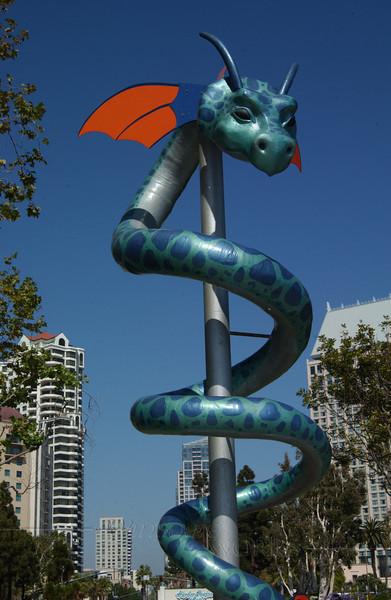 Dragon sculpture along San Diego Harbor