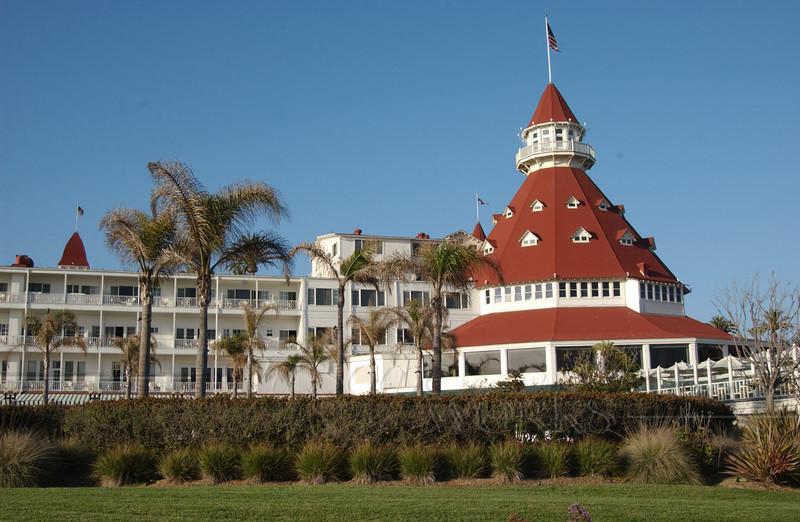 Front view of Hotel del Coronado