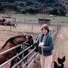 Donna Feeding Goats - Center Valley, CA - 1/31/86