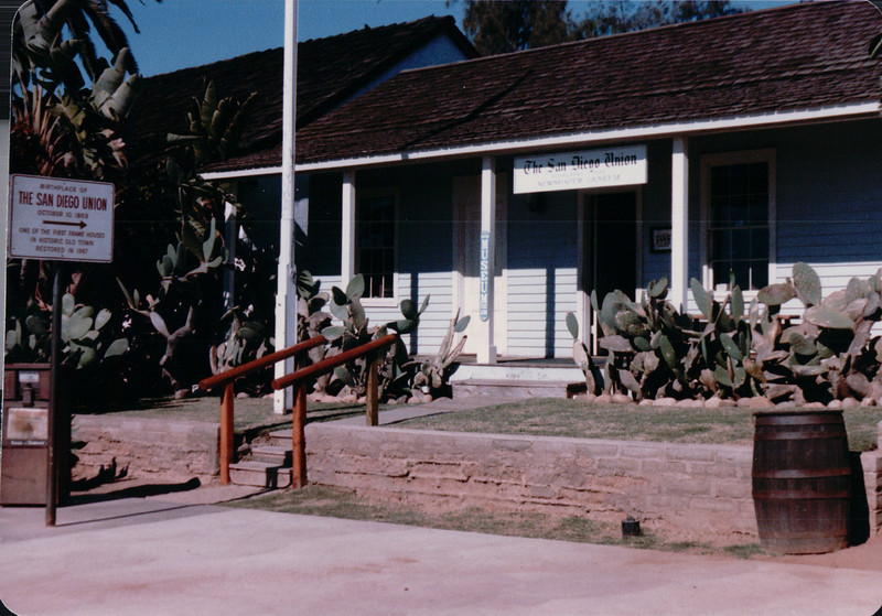 Newspaper Office - Olde Towne, San Diego, CA - 1/28/86