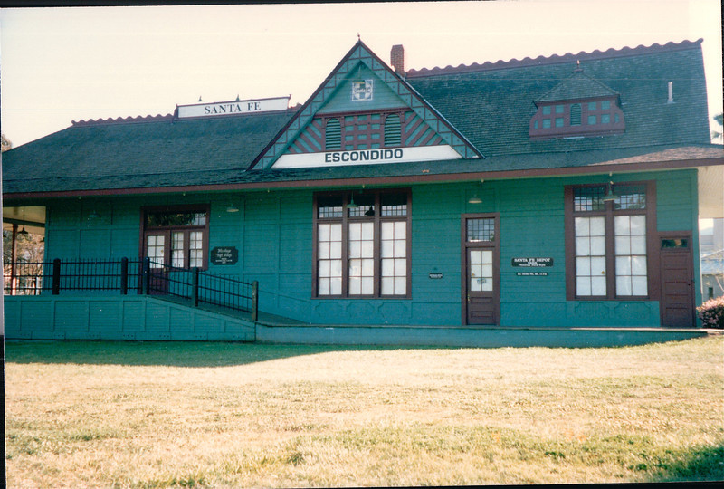 Santa Fe Train Station - Escondido, CA  4-1-96<br /> Built in 1887. Restored and relocated to a city park.