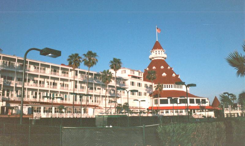 View From Beachside (Rear) - Del Coronado Hotel, Coronado, CA  3-30-96